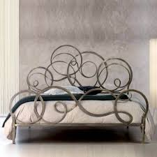 bedroom infabbrica ethos wrought iron bed with tufted headboard