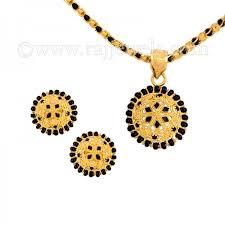 gold bead pendant necklace images 22k gold black beads pendant necklace set raj jewels jpg