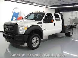 ford f 450 crew cab diesel drw 4x4 flat bed 2011 commercial