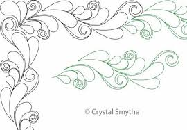 galyna s feather border and corner digital quilting designs