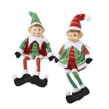 amazon com kurt adler 18 inch stuffed sitting elf ornament set