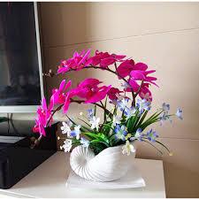 Orchid Flower Arrangements Aliexpress Com Buy High Simulation Handmade Ikebana Artificial