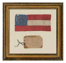 How To Hoist A Flag Jeff Bridgman Antique Flags And Painted Furniture Confederate