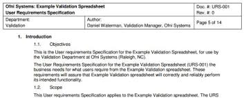 fastval user requirements template ofni systems