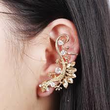 one ear earring 2018 korean brand design women s quality moon earring