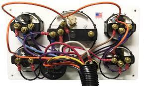 black yanmar marine engine instrument panel black gauges 11 u2033 x 6