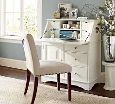 small white secretary desk graham small space secretary pottery barn