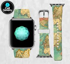World Map Watch Vintage World Map Retro Travel Inspired Cute New Apple