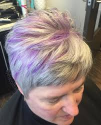 shag haircut brown hair with lavender grey streaks 60 gorgeous gray hair styles blonde hairstyles blondes and hair