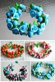 handmade flower bracelet images Flower bracelet gift idea for her nature jewelry gift for sister jpg