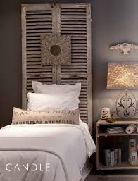 Easy Headboard Ideas I Love The Shutters Behind The Bed Simple And Easy Headboard Idea