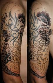 sleeve tattoo dragon design idea for men and women