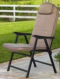 Padded Folding Patio Chairs Wide Folding Padded Outdoor Chair Khaki