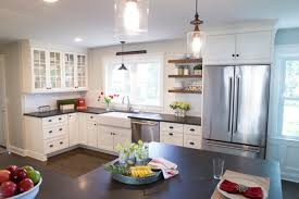 versus light kitchen cabinets pros and cons of kitchen cabinets versus open shelves