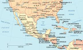 mexico america map map of southern mexico northern guatemala illustration project