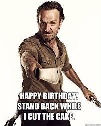 Walking Dead Birthday Meme - happy birthday zombiemom62 birthdays pinterest happy birthday