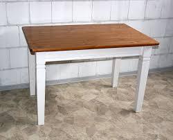 Esszimmertisch Tisch Esstisch 140x78x90cm Kiefer Massiv 2farbig Weiß Lasiert