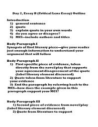Sample Evaluation Essay Critical Evaluation Essay Critical Writing Examples Essay Critical