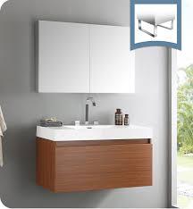 Teak Bathroom Storage Fresca Fvn8010tk Mezzo Modern Bathroom Vanity With Medicine