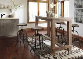 pinnadel dining room bar tabl u0026 4 tall swivel stools d542 12 230