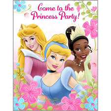 Invitations And Cards Disney Princess Party Invitations And Cards Birthday Girls Wikii