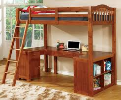 Dutton Loft Bed Oak CMBK Furniture Of America Kids And - Furniture of america bunk beds
