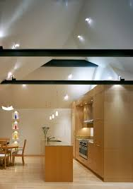 Kitchen Drawer Lights by Outstanding Vaulted Ceiling Lighting With Wood Cabinets Flooring Trim