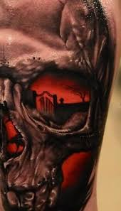 one more 3d realistic skull tattoo golfian com
