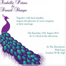 peacock wedding invitations dazzling peacock wedding colours