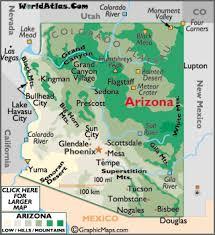 az city map arizona map geography of arizona map of arizona worldatlas com