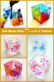 painted votives for kids to make rhythms of play
