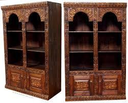 Wohnzimmerschrank Massivholz Antik Look Orient Massivholz Wohnzimmerschrank Regal Schrank