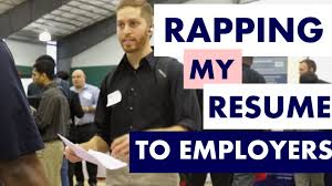 Best Resume Joke by Student Raps Resume At Career Fair Youtube