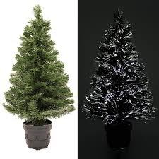 werchristmas 5 ft pre lit fibre optic christmas tree with white