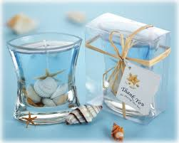 thank you wedding gifts seashells gel candle favor