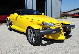 chrysler prowler 1999 plymouth prowler in yellow clear coat paint my car story