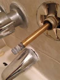 Shower Faucet Knob Replacement How To Replace Old Stiff Shower Handle Doityourself Com