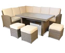 Rattan Table L Rattan Garden Furniture L Shaped Sofa Set Outdoor Sofa Large