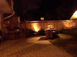 backyard lights on fence home outdoor decoration