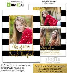 announcements for graduation black and white stripes graduation announcement invitation