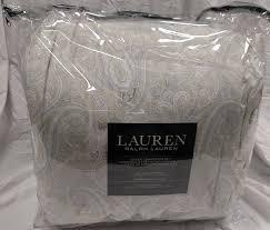 Ralph Lauren Comforter Set Amazon Com Ralph Lauren Wexford Paisley Navy Blue Cream Queen 4