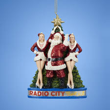 5 glittered santa claus with the rockettes at radio city