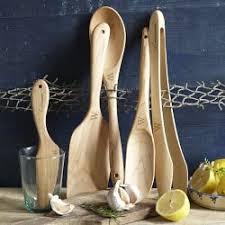 Organic Kitchen Utensils - wood cooking utensils williams sonoma