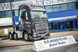 volvo hd trucks hd ricketts celebrates 50 years with new volvo fh16 commercial motor