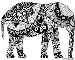 Coloriages Des Elephants A Cryptic Coloration Synonym Coloriage Des