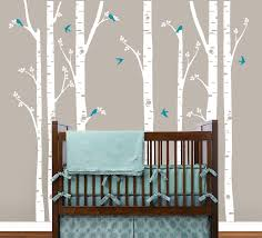 lovely tree wall decal sticker for nursery baby animal full size baby nursery lovely birch tree wall decal recmovable sticker white vinyl