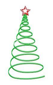 spiral christmas tree spiral christmas tree with royalty free stock image storyblocks