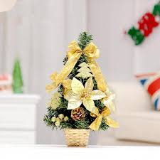 Small Decorated Christmas Trees For Sale by 2015 New 35cm Golden Bow Decoration Small Christmas Tree Office