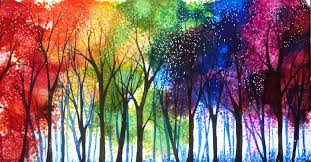 rainbow trees by annmariebone on deviantart