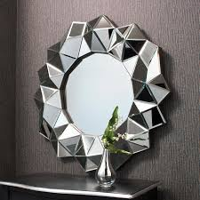 Circle Wall Mirrors Cool Faceted Mirror Trend Alert Faceted Interior Design For